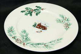 """Farberware White Christmas 2118 Dinner Plates 10.5"""" Lot of 8 image 6"""