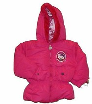 Hello Kitty Sanrio Faux Fur Winter Coat Puffer Jacket Nwt Toddlers Size 3 T  $70 - $28.00