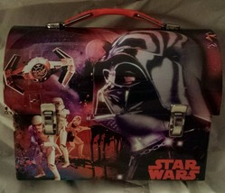 Star Wars Metal Lunch Box - DARTH VADER TIE FIGHTER Workman Carry All Tin - $8.99