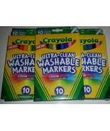 4 Packs of 10 Crayola Ultra Clean Washable Markers Fine Line Classic Bol... - $16.82