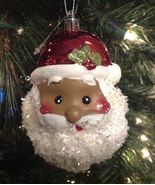 Christmas Ornament Black Santa Claus New with Tags - $9.85