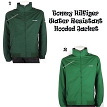 TOMMY HILFIGER NEW MEN'S FULL ZIP WATER RESISTANT WINDBREAKER YACHT JACK... - $46.42+