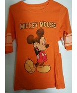 Disney Mickey Mouse T-Shirt Tee Shirt Juniors 7 9 Medium M Baseball NWT   - $18.68