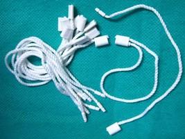 """7"""" 1000 Pcs White Hang Tag ROUND String Snap Lock Pin Loop Fastener Hook... - $27.85"""