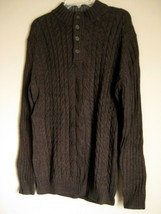 NEW WITH TAGS MENS MACYS TASSO ELBA CABLE KNIT CARDIGAN PULLOVER SWEATER... - ₨1,729.97 INR