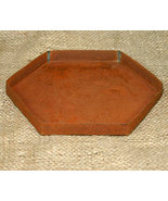 Rusty Tin Country Hexagon Candle Pan - $6.98