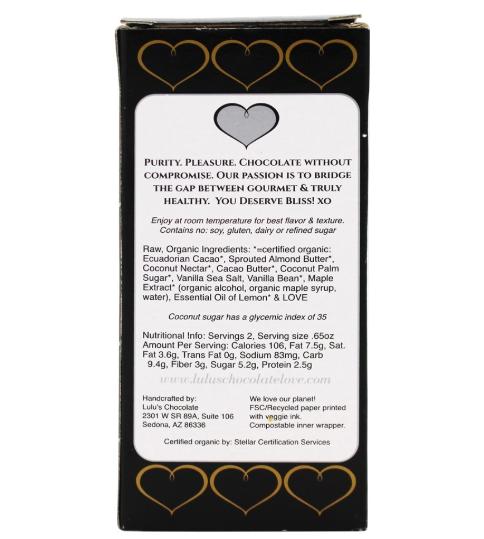 Keto chocolate: Lulu's Salted Caramels with Vanilla Sea Salt 3 ct (6.4 carbs)