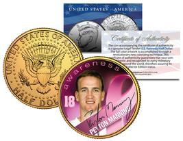 Breast Cancer Awareness PEYTON MANNING NFL Half Dollar 24K Coin *DENVER ... - $8.95
