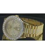 15 carat iced out diamond presidential rolex wa... - $20,641.50