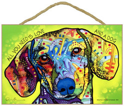 Dean Russo Dachshund ALL YOU NEED IS LOVE AND A... - $18.66