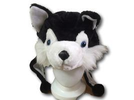 Cute Anime Animal Hat Rave Beanie Cap Furry Plush Cosplay Dog Huskey BLACK - €7,09 EUR