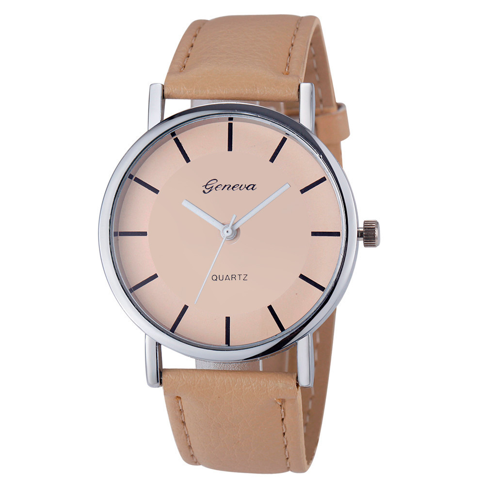 Geneva Simple Style Watches Women Ladies PU Leather Band ...