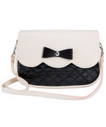 Lovely Women Bowknot Handbags Shoulder Bag Fashion Ladies Splice Color C... - £8.88 GBP