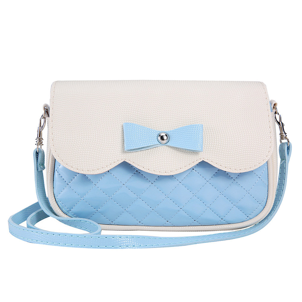 En bowknot handbags shoulder bag 2016 fashion ladies splice color crossbody messenger bag bolsas