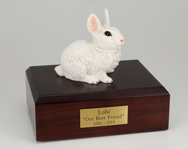 Rabbit White Figurine Pet Cremation Urn Available in 3 Different Colors ... - $169.99+
