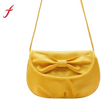 Fashion Mini Crossbody Bag Faux Leather Shoulder Bowknot Purse Women Gir... - $14.36