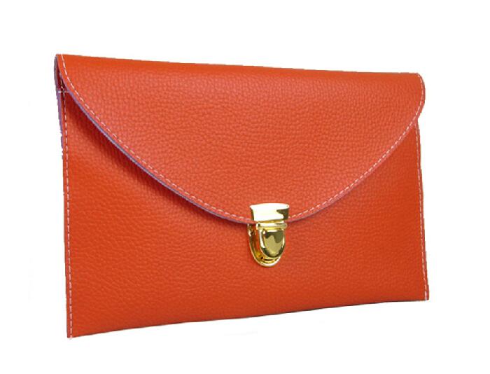 Fashion women handbag 2016 new high quality soft pu leather women bag envelope bag simple wild
