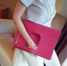 High quality pu leather women designer brand clutch folding envelope large capacity bag thumb200