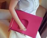Quality pu leather women designer brand clutch folding envelope large capacity bag thumb155 crop
