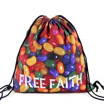 Sport Spring Summer Colorful Print Women Drawstring Backpack Unisex Canv... - $17.05
