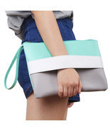 Summer Style Colorful Rainbow Women Handbag Daily Shopping Day Clutches ... - €14,95 EUR