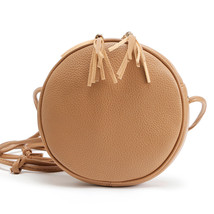 Fashion PU Leather Circular Tassels Bag Women Round Shape Handbag Should... - $18.35