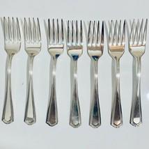 Vintage Oneida Hotel Plate Fork Lot 7 Silver Plate Kitchen Utensil Free ... - $39.59