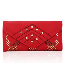 Women Leather Wallets Hollow Out Wallet Lady Rivet Carteira Feminina Has... - $26.90