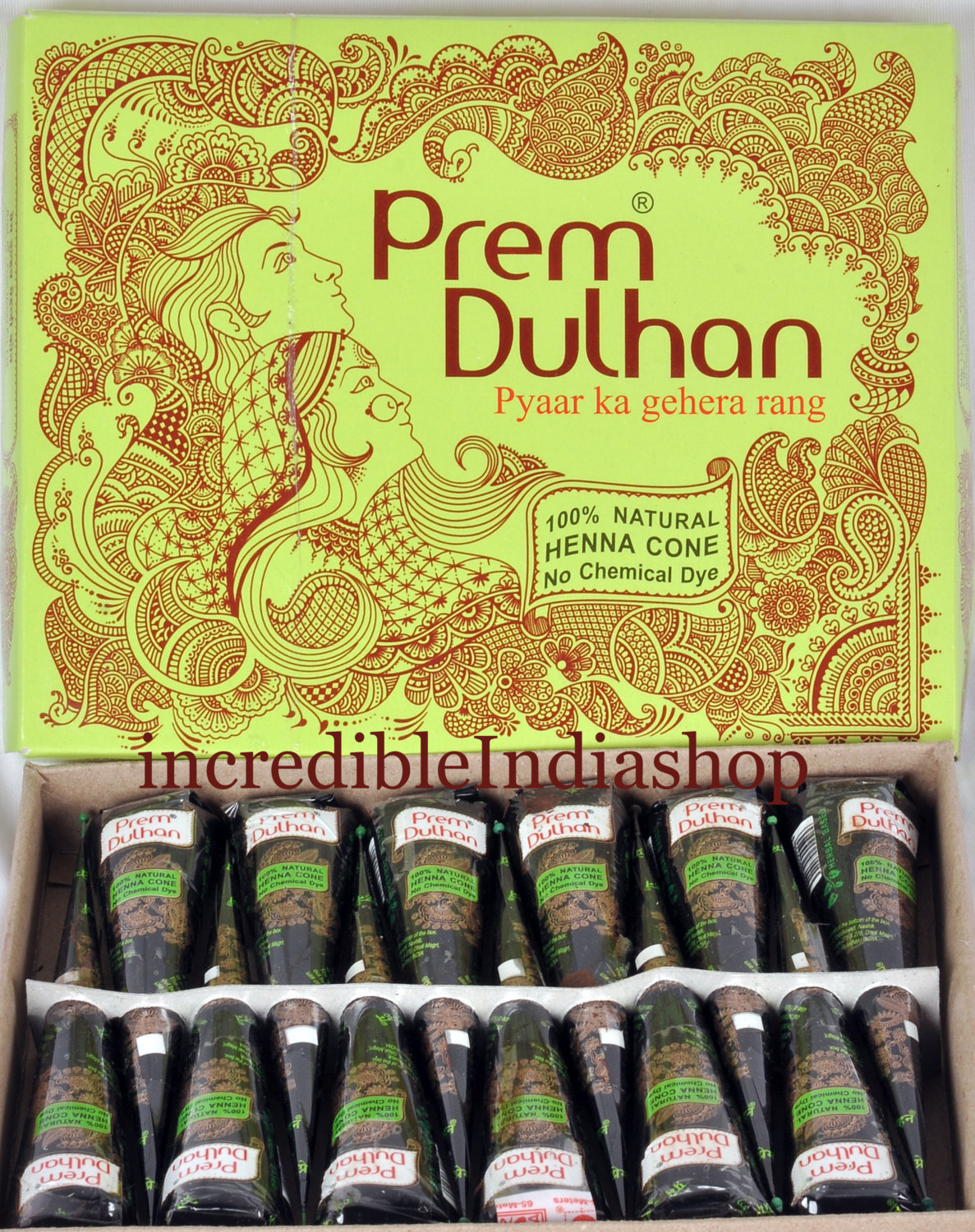 12 X Henna Cone Prem Dulhan Herbal And 50 Similar Items Tatto Temporary Sticker Hb577 Tattoo At Amazing Price