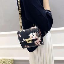 Women Small Handbag Shoulder Bag Flower Butterfly Print PU Leather Messe... - $28.05
