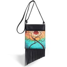 New Hippie Tassel Bag Fringe Zipper Women Messenger Bags Crossbody Shoul... - $29.57