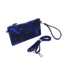 Fashion Camouflage Bag Rivet Clutch Women Messenger Bag Punk Handbags Cr... - ₨2,185.63 INR