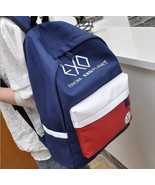 The new Casual canvas shoulder bag Korean unisex backpack college wind s... - $39.68