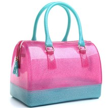 Silica gel Women bag new candy-colored transparent jelly bag crystal han... - $46.66
