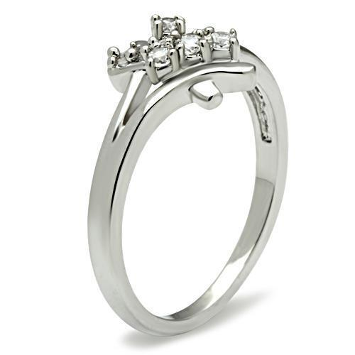 HCJ Silver Tone Cluster Setting Cubic Zirconia Promise Ring Size 5, 9, 10