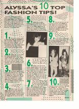Alyssa Milano Debbie Gibson teen magazine pinup clipping top 10 fashion ti