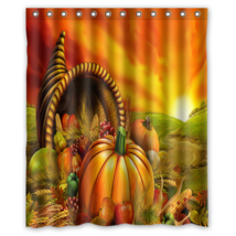 Thankgiving #01 Shower Curtain Waterproof Made From Polyester - $31.26+