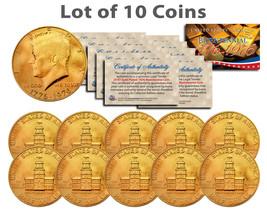 Bicentennial 1976 JFK Half Dollar US Coin 24K GOLD PLATED w/Capsules *Lo... - $39.95