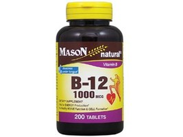 200 TABLETS VITAMIN B 12 1000 MCG SUBLINGUAL Heart Health DISSOLVES UNDE... - $12.69