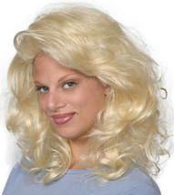 Fashion women medium wavy Tawny wig Blond