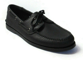 TIMBERLAND Men's Black Leather Boat Shoes Size 11 #29572 - $69.99