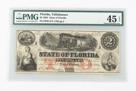 1864 Confederate $2 Note CXF-45 EPQ PMG Choice Extra Fine Tallahassee CS... - $494.99