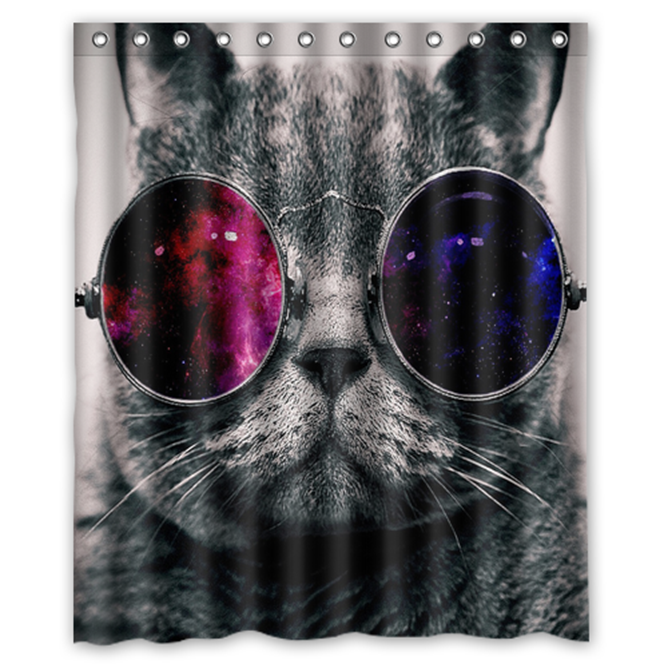 Primary image for Cat #02 Shower Curtain Waterproof Made From Polyester