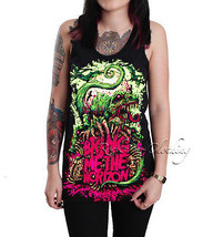 Bring Me The Horizon Dinosaur Unisex Tank Top Singlet Vest Shirt Black S-XL - $19.98