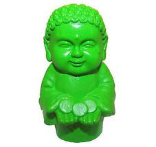 Pocket Buddha Green Prosperity Buddhism Mini Figure Figurine Toy - $4.99