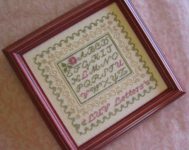 LUV Letters cross stitch chart Primrose Needleworks - $7.20