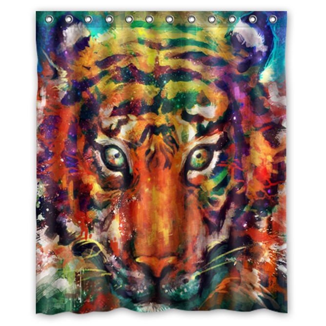 Primary image for Tiger #07 Shower Curtain Waterproof Made From Polyest