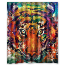 Tiger #07 Shower Curtain Waterproof Made From Polyest - $31.26+