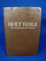 HOLY BIBLE Brown New Int'l Version ZONDERVAN Co... - $12.86