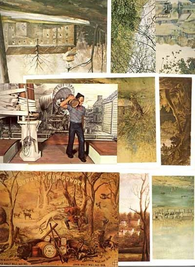 8 Hagley Museum DuPont postcards GunPower plant Brandywine Creek DE sporting
